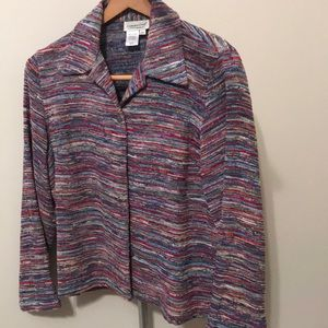 Coldwater Creek Multi-Colored Striped Jacket